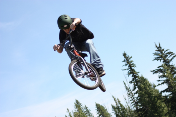 BMX BIKING -  Ride your way to excitement as you try out different jumps, turns, and twists! Each year we add a couple new bikes and now have a really great collection! Come and join this activity and watch the staff try a 360 off the big jump!