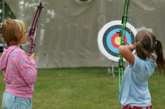 ARCHERY - Learn to be just like Robin Hood as you string a bow, and shoot at targets. Try different bows and different targets as you and your friends shoot arrows every day!